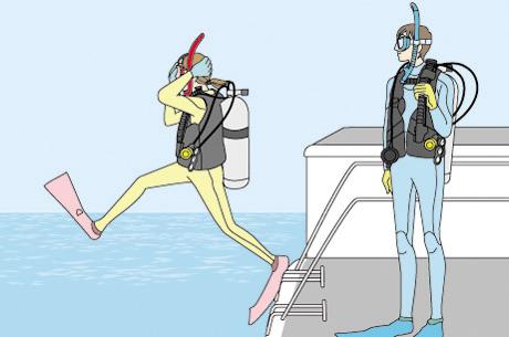 神戸明石のダイビングショップBLUEBLUE明石のボート・ダイバーコース