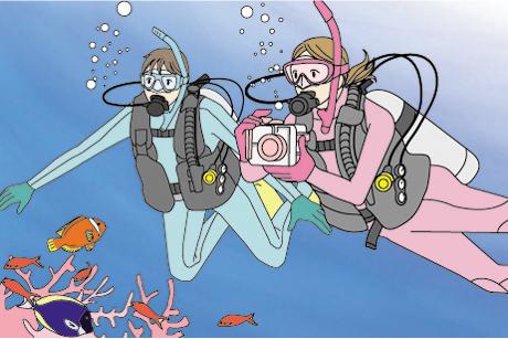 神戸明石のダイビングショップBLUEBLUE明石のデジタル・アンダーウォーター・フォトグラファー・スペシャルティ・ダイバー・コース